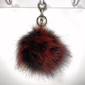PURSE PUFF BALL Red and Black